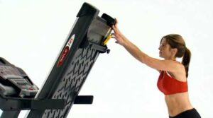 Sole F85 Foldable Treadmill raises and lowers easily.