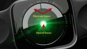 Apple Watch Series 4 - optical and electrical sensors