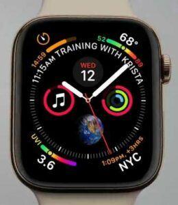 Apple Watch Series 4 - functions on display