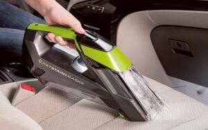 Bissell Pet Stain Eraser - great for cleaning car seats.