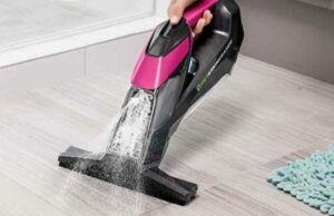 Bissell DELUXE Cordless Handheld Pet Stain Eraser - hard surface / window attachment.