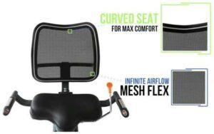 3G Cardio Elite RB Recumbent Bike - comfortable seat