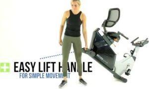 3G Cardio Elite RB Recumbent Bike - easy to move on roller wheels.