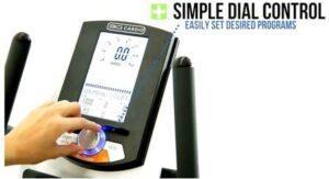 3G Cardio Elite RB Recumbent Bike - simply dial program on control panel.