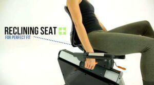 3G Cardio Elite RB Recumbent Bike - comfortable and adjustable seat.