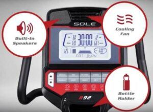Sole R92 Recumbent Bike - built-in speakers and fan