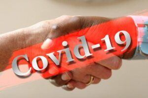 Avoid coronavirus - wash hands after shaking hands.