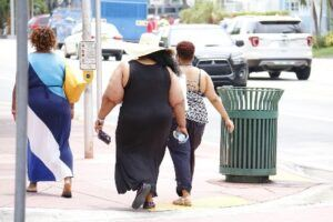 Overweight folks in America.