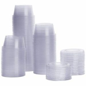 Disposable plastic cups for Bento boxes.